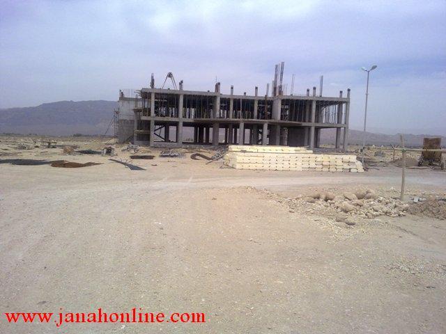 عملیات ساخت ساختمان پردیس وخوابگاه دانشگاه آزاد اسلامی جناح در حال انجام است+عکس