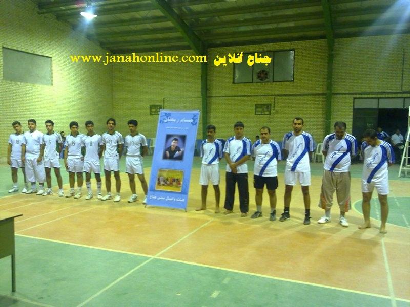 جوانان جناح قهرمان مسابقات والیبال جام رمضان جناح یادواره ی مرحوم دامن افشان+عکس